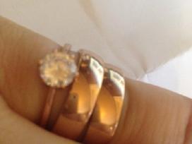 N3 -24 kar.auksu paauksuotas vestuvinis ziedas