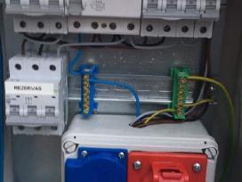 Elektros montavimo darbai (vidaus ir lauko)