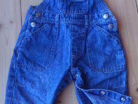 Džinsinės kelnės su petnešomis