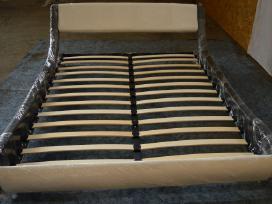 Nauja odinė lova su nauju čiužiniu