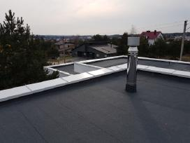 Bituminiai stogai, prilydoma danga, stogų dengimas