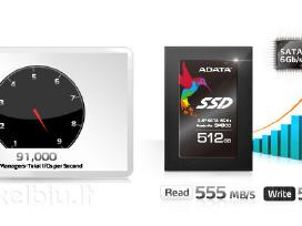 SSD 120gb - 512gb ir HDD 80gb - 2tb