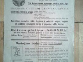 Beicu reklama isleista vok. okupacijos metais