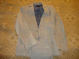 Parduodami vyriški lininiai kostiumai