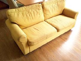 Geltonos spalvos sofa