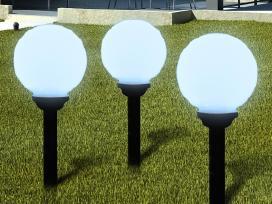 3 Saulės Energija Įkraunami Šviestuvai, vidaxl