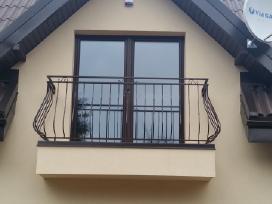 Balkonų turėklai, sraigtiniai laiptai, vartai