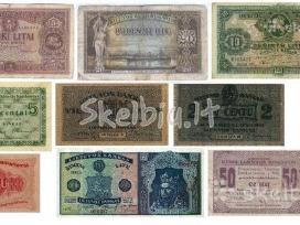 Pirksiu lietuvos monetu ir banknotu 1922m.iki1938m