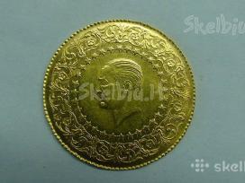 Siulau keles auksines monetas kainos po 430 euru