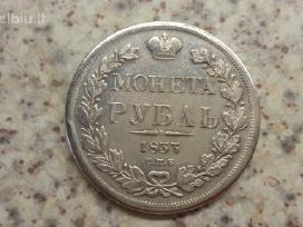 Turiu Rusu moneta rubli 1833 kopija kaina 5 euru