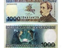 Pirksiu Lietuvos litu banknotus kainos sutartinės