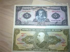 Siūlau kelis banknotus įvairių šalių kaina 20 eurų