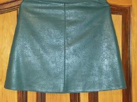 Naujas tamsiai žalios spalvos odinis sijonas