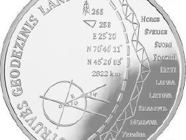 Siulau 20 euru Struvės geodezinio lanko moneta