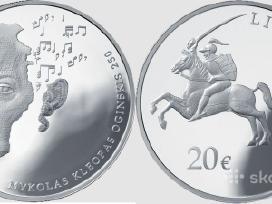 Mykolas Kleopas Oginskis 250. 20 euru.kaina 99 eur