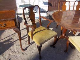 Klasikinis antikvarinis stalas ir 6 kėdės - nuotraukos Nr. 3