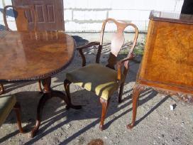 Klasikinis antikvarinis stalas ir 6 kėdės - nuotraukos Nr. 4