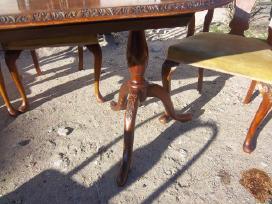Klasikinis antikvarinis stalas ir 6 kėdės - nuotraukos Nr. 6