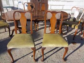 Klasikinis antikvarinis stalas ir 6 kėdės - nuotraukos Nr. 7