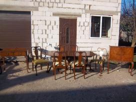 Klasikinis antikvarinis stalas ir 6 kėdės - nuotraukos Nr. 10
