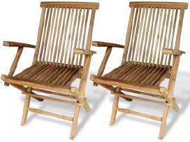 Sodo Kėdės iš Tikmedžio Medienos 41999 vidaxl