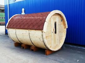 Apvali Lauko pirtis kubilas sauna bačka 3m ilgio