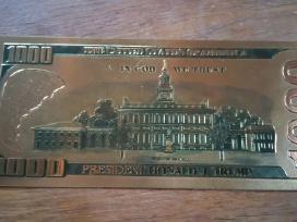 100 1000 doleriu auksiniai banknotai kaina 20 euru