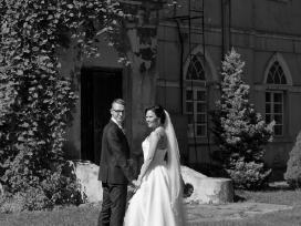 Vestuvinė suknelė su tiulio sijonu (2in 1) - nuotraukos Nr. 4