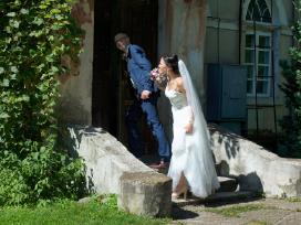 Vestuvinė suknelė su tiulio sijonu (2in 1) - nuotraukos Nr. 5