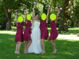 Vestuvinė suknelė su tiulio sijonu (2in 1) - nuotraukos Nr. 10