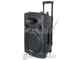 Ibiza Port15 su vidine baterija ir mikrofonais