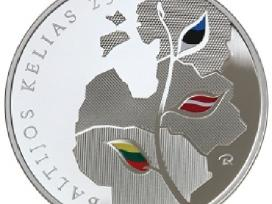Siūlau 50 lt. moneta Baltijos kelęs kaina 100 euru