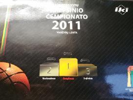 Krepšinio čempionato 2011m.grafikas su medaliais