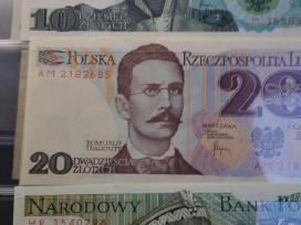 Bankinio stovio Lenku banknotu kolekcija kaina 50