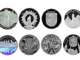 Siūlau medali Vilnius Gedemino miėstas kaina 46eur