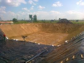 Tvenkiniai, keliai, žemės darbai