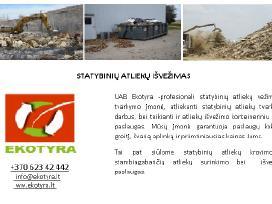 Statybinių ir gamybinių atliekų išvežimas