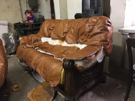 Minkštų baldų restauravimas, remontas, pervilkimas