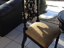 Antikvarinis pietu stalas ir 4 kėdės