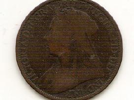 Anglija penny 1896 arba 1897#790