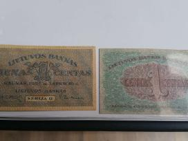 Lietuvos 1922.lapkri.16 d. 20centu kaina 45 eurai