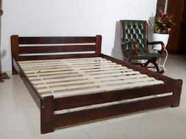 Nauja dvigule medine lova balta masyvas 140 x 200