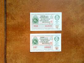 Soviet. loterijos bilietai su tautine simbolika