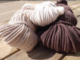 Medvilninės virvės nėrimui