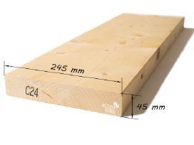 Kalibruota mediena, obliuoti tąšai - nuotraukos Nr. 9