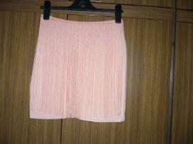 Zara persikinis trumpas trikotažinis sijonas