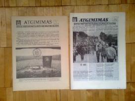 """Patys pirmieji du """"Atgimimo"""" numeriai 1988 m."""