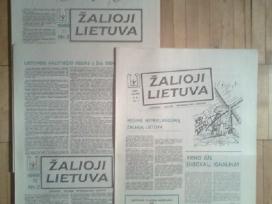 """Laikrascio """" Zalioji Lietuva """" pirmieji 12 numeriu"""