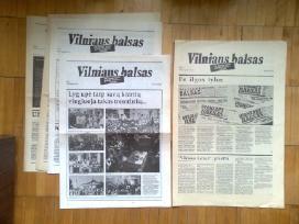"""""""Vilniaus balso"""" patys pirmieji numeriai 1989 m."""