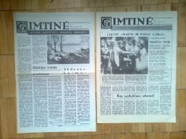 Ivairiu laikrasciu pats pirmasis numeris 1989m.